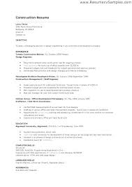 construction resume template tradesman resume template micxikine me