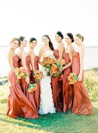 best 25 burnt orange bridesmaid dresses ideas on pinterest