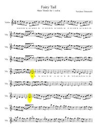 themes google chrome fairy tail fairy tail main theme for 1 violin violin 4 vln 8 vln yasuhara