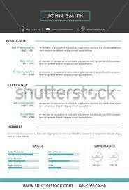 luxury personal vector resume cv template stock vector 386201512