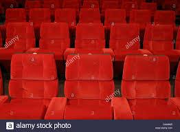 plush velvet cinema seats in a cinema stock photo 36983413 alamy