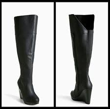 s boots calf size wedge knee high boots s 12 us size ebay