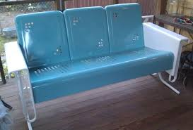Metal Patio Chair Brilliant Retro Metal Patio Furniture With Appealing Vintage Metal