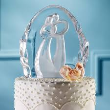 glass wedding cake toppers glass wedding cake topper atdisability