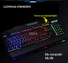 usb light for laptop keyboard gaming computer keyboard gamer teclado color backlit wired usb light