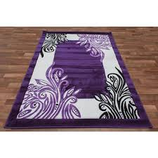 Purple And Black Area Rugs Lovely Lavendar Rugs 1 Modern Border Vines Area Rug Solid Purple