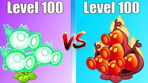 plants vs zombies 2 mod electric peashooter level 100 vs fire