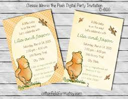 winnie pooh invitations vintage baby shower invitations uk archives baby shower diy