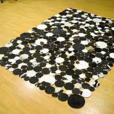 6 X 8 Area Rug Cowhide Area Rug Black Brown And White 5 U00276
