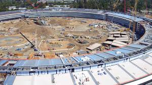 apple campus 2 drone footage u0027spaceship u0027 build progress