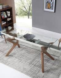 Wooden Legs For Table The Bridge Clear Glass Rectangular Extendable Table