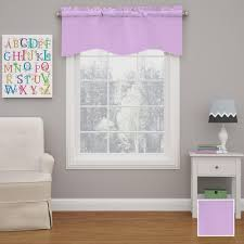 Purple Eclipse Curtains by Achim Semi Opaque Ombre Waterfall 42 In L Polyester Valance In