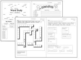 free spelling workbooks and spelling word lists no prep weekly