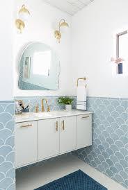 blue tiles bathroom ideas master bathroom reveal emily henderson