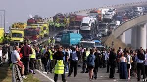 sheppey crossing crash dozens hurt as 130 vehicles crash bbc news