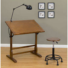 Vintage Wooden Drafting Table Architect Desk Ebay