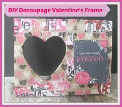 Homemade Valentines Day Gifts diy decoupage valentine u0027s frame how to decoupage a wooden frame