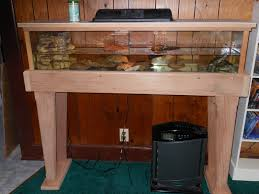 fish tank hand made recycled redwoodrium tank and stand by davis