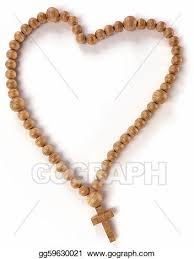drawing chaplet or rosary shape clipart drawing
