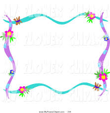 Blue And Purple Flowers Royalty Free Frame Stock Flower Designs