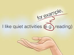 eg how to use