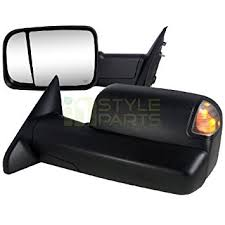 towing mirrors for dodge ram 3500 amazon com 2010 2011 2012 dodge ram 2500 3500 towing mirrors