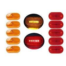 side marker light lens partsam 5 amber 5 red surface mount side marker 6 leds clearance
