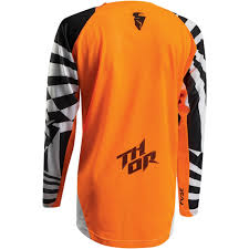 youth thor motocross gear thor 2017 fuse air dazz jersey and pants package white orange