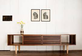 bucks media console modern solid walnut and maple tv