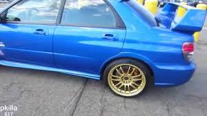 subaru impreza wheels subaru impreza wrx sti with the gold rims youtube