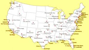 map us big cities map usa with major cities major tourist attractions maps
