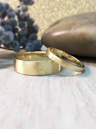 Matching Wedding Rings by Set 2 7mm And 6mm Satin Finish Matching Wedding Bands Solid 14k