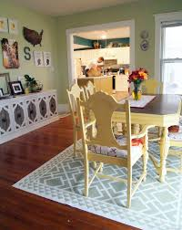 Rugs For Dining Room by Diy Dining Room Area Rug Painted Linoleum Reality Daydream
