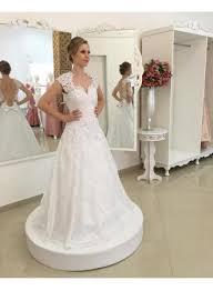 weiße brautkleider günstig a linie rückenfrei hochzeitskleider - Brautkleider Standesamt Gã Nstig