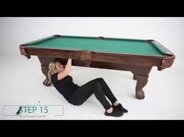how to refelt a pool table video salem billiard table assembly video youtube