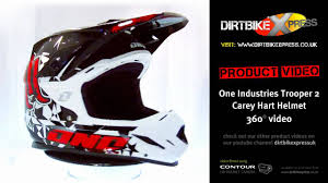 one industries motocross gear one industries trooper 2 carey hart helmet youtube
