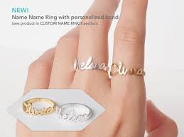 Custom Name Ring The 25 Best Name Rings Ideas On Pinterest Stackable Name Rings