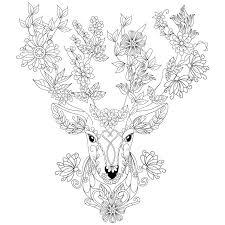 deer coloring design ms design kids design kids