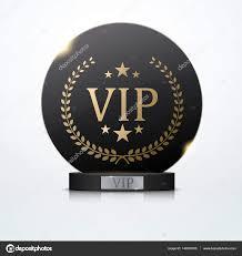 Vip Invitation Cards Vip Invitation With Black Award Trophy Vector U2014 Stock Vector