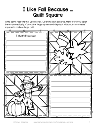 Thanksgiving Writing Prompts First Grade Fall Activity Fall Writing Prompts Quilt Writing Prompts