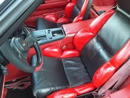 Custom Corvette Interior 1986 Black And Red Interior And Exterior Custom Corvette For Sale
