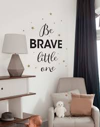 be brave little one inspirational wall words lettering wall decals be brave little one quote lettering wall decal