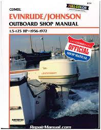 evinrude johnson marine manuals repair manuals online