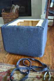 Diy Storage Ottoman Cube I Did It Reupholstering Cube Ottomans Tutorial Lilacs And