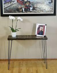 hairpin leg console table reclaimed barn wood console table with hairpin legs 30 height