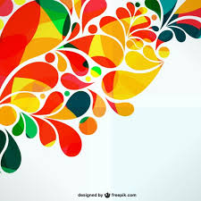 colorful ornamental abstract design vector free download