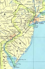 map of nj new jersey maps perry castañeda map collection ut library