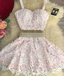 dresses graduation charming 2 pieces pink lace prom dress homecoming dresses