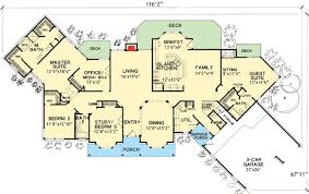 house plans with inlaw apartments pretentious one level house plans with inlaw apartment 7