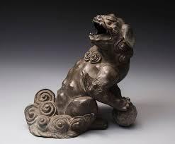 shishi statue antique bronze shishi guardian lion dog item 1368370